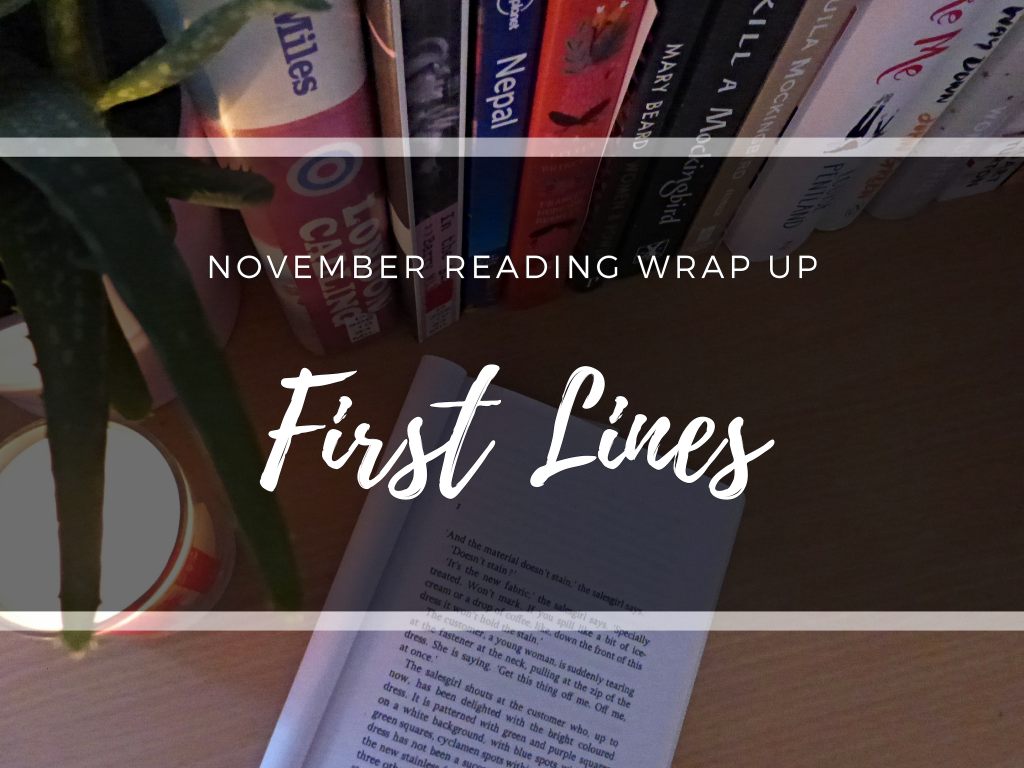 november first lines - writing finch